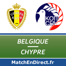 Belgique - Chypre match en direct Live du Samedi 28 mars 2015