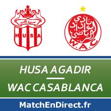 husa agadir wac casablanca match en direct live du